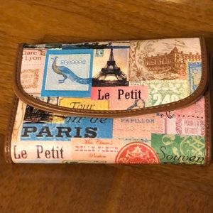 Relic wallet with French Print